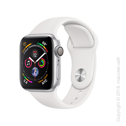 Apple Watch Series 4 GPS 40mm Silver Aluminum Case with White Sport Band