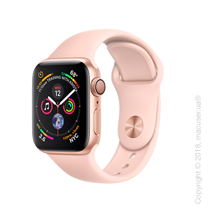 Apple Watch Series 4 GPS 40mm Gold Aluminum Case with Pink Sand Sport Band
