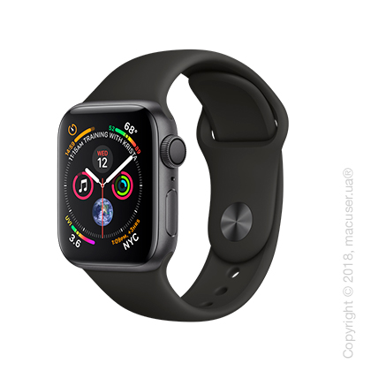 Apple Watch Series 4 GPS 40mm Space Gray Aluminum Case with Black Sport Band