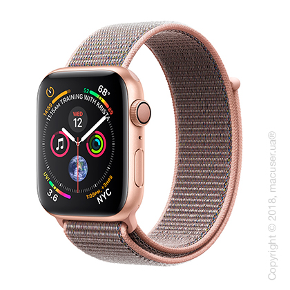 Apple Watch Series 4 GPS 44mm Gold Aluminum Case with Pink Sand Sport Loop