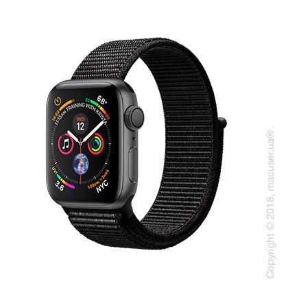 Apple Watch Series 4 GPS 40mm Space Gray Aluminum Case with Black Sport Loop