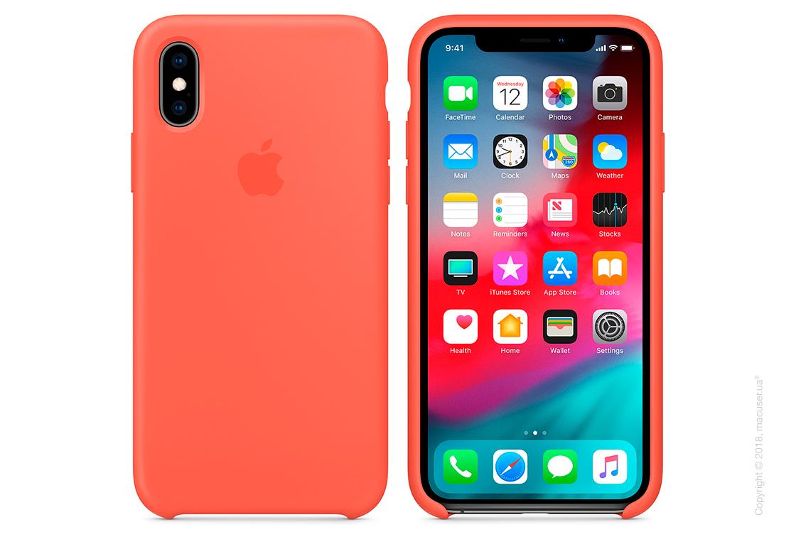 iPhone Xs Silicone Case - Nectarine