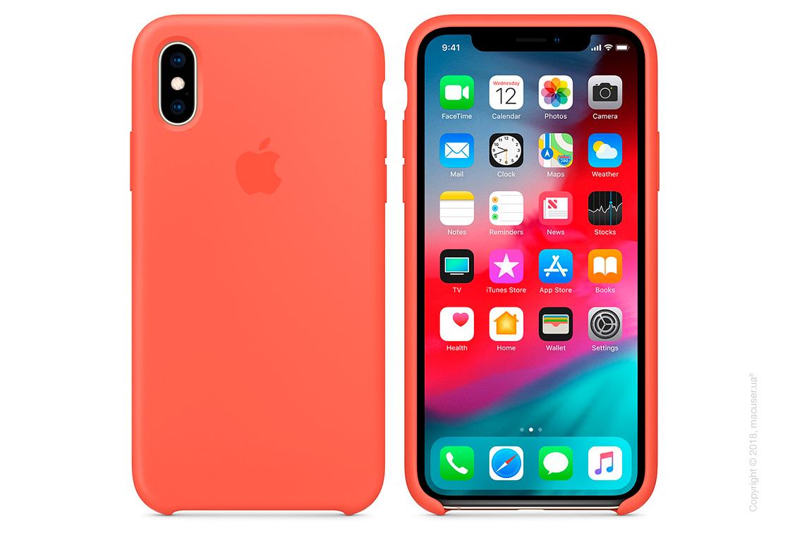 iPhone Xs Max Silicone Case - Nectarine