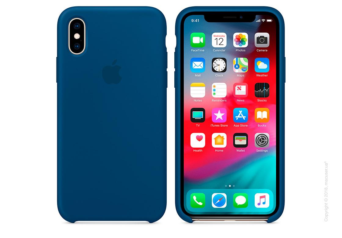 iPhone Xs Silicone Case - Blue Horizon