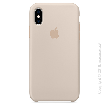 iPhone Xs Silicone Case - Stone