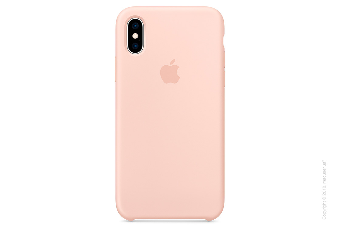 iPhone Xs Silicone Case - Pink Sand
