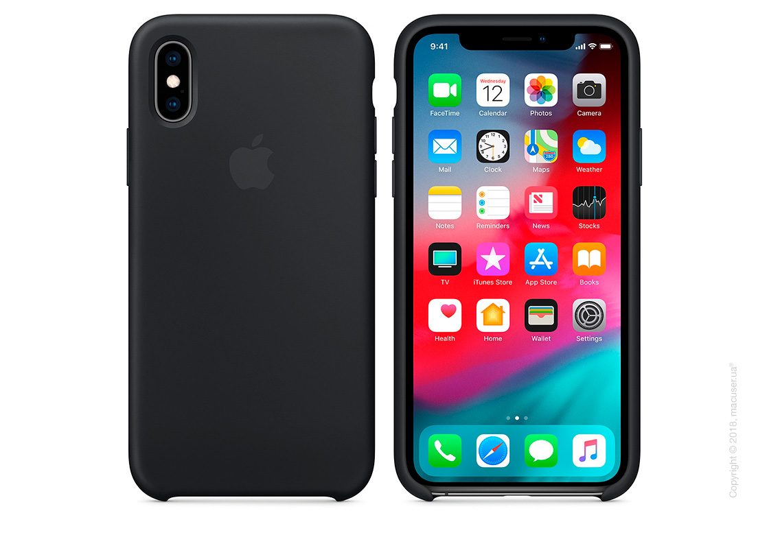 iPhone Xs Silicone Case - Black
