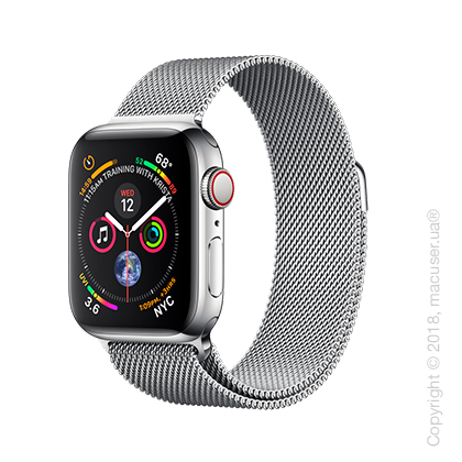 Apple Watch Series 4 GPS + Cellular 40mm Stainless Steel Case with Milanese Loop