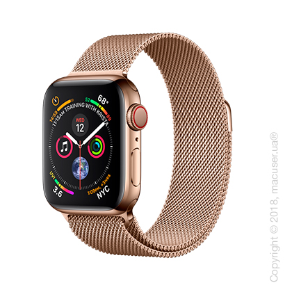Apple Watch Series 4 GPS + Cellular 40mm Gold Stainless Steel Case with Gold Milanese Loop