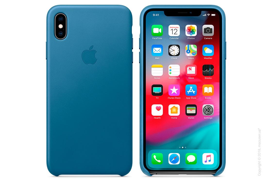 iPhone Xs Max Leather Case - Cape Cod Blue