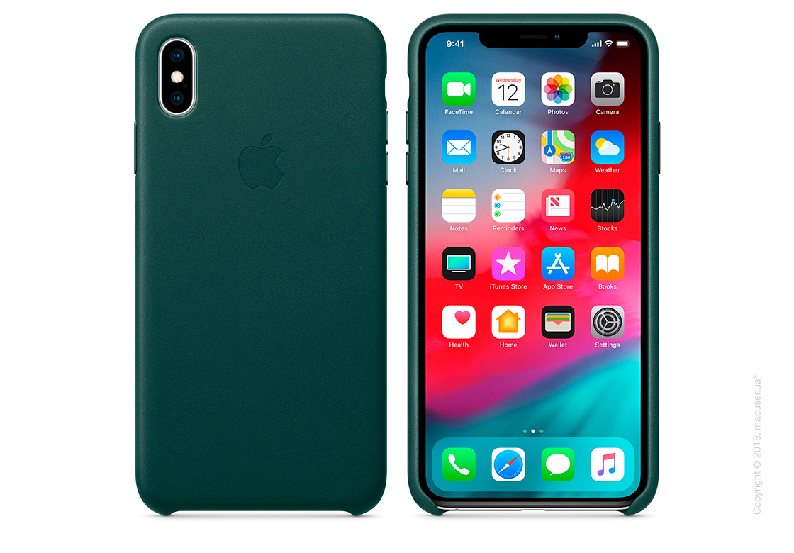 iPhone Xs Max Leather Case - Forest Green