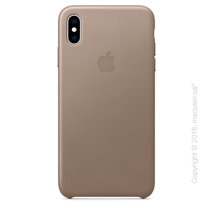 iPhone Xs Max Leather Case - Taupe