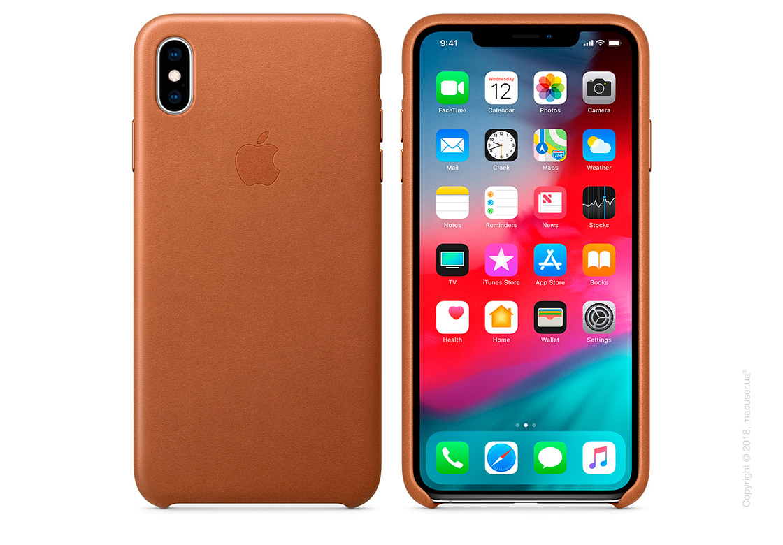 iPhone Xs Max Leather Case - Saddle Brown