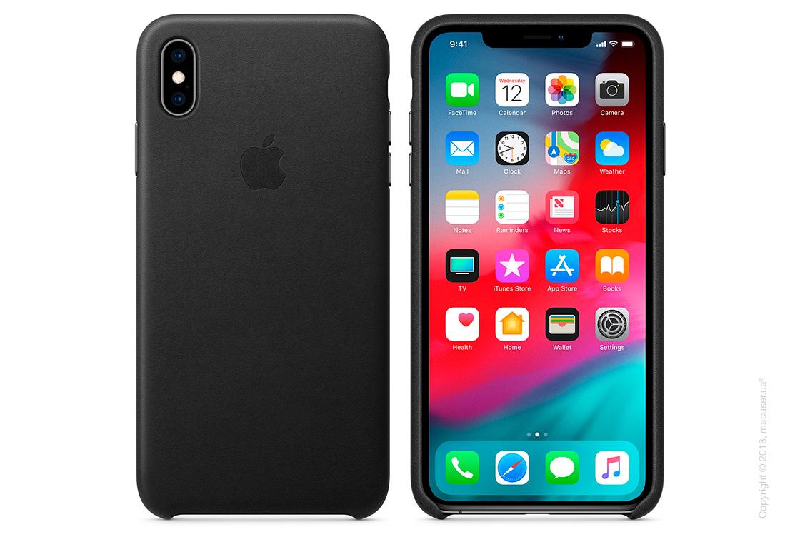 iPhone Xs Leather Case - Black
