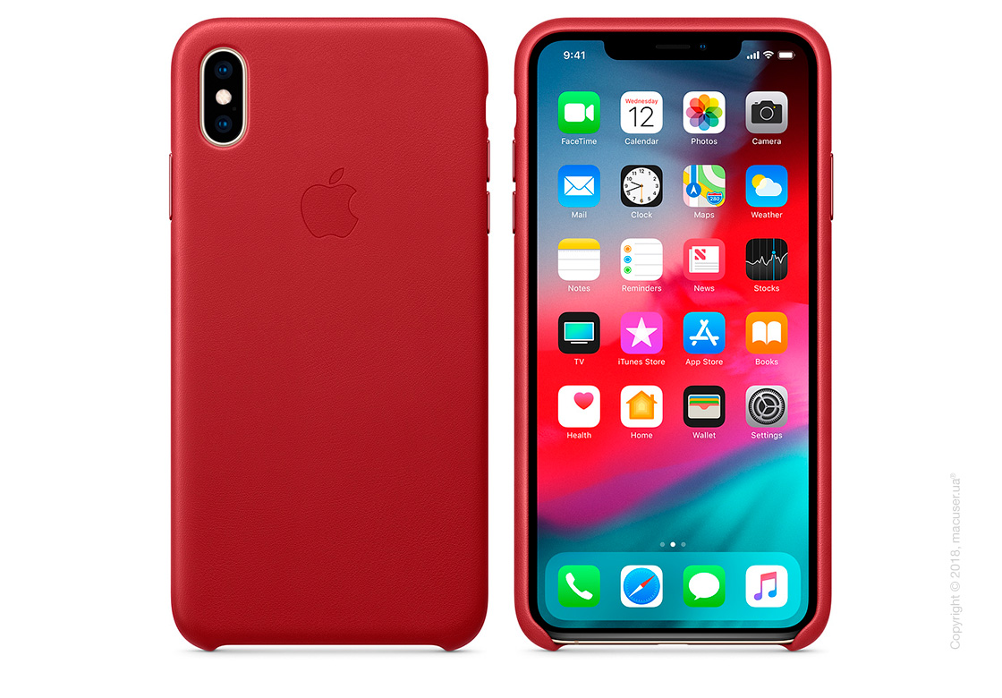 iPhone Xs Leather Case - (PRODUCT)RED