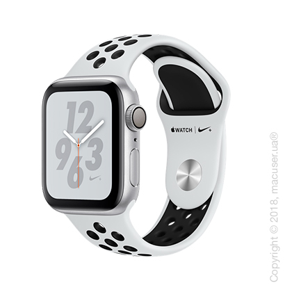 Apple Watch Series 4 GPS 40mm Silver Aluminum Case with Pure Platinum/Black Nike Sport Band