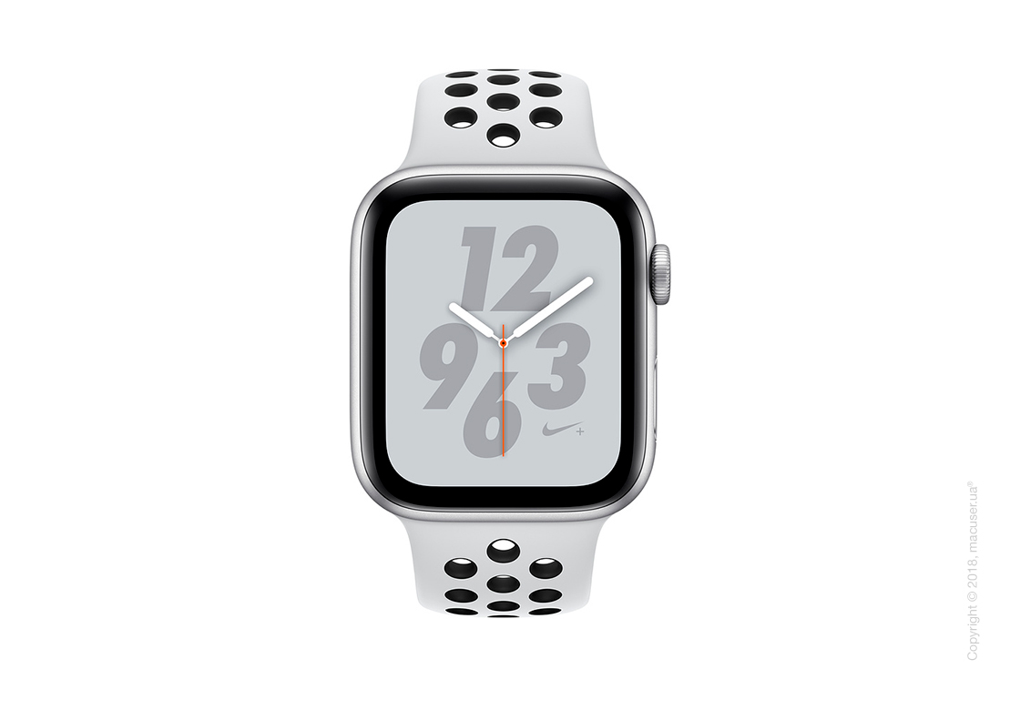 Apple Watch Series 4 GPS 44mm Silver Aluminum Case with Pure Platinum/Black Nike Sport Band