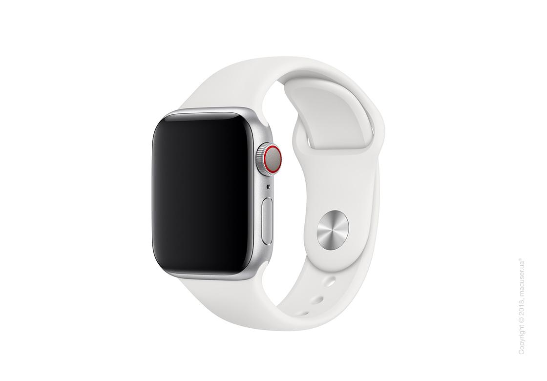 Спортивный ремешок Apple 40mm White Sport Band - S/M & M/L