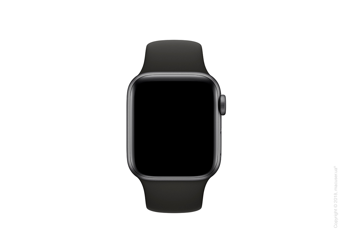 Спортивный ремешок Apple 40mm Black Sport Band - S/M & M/L