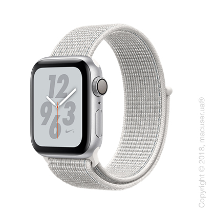 Apple Watch Series 4 GPS 40mm Silver Aluminum Case with Summit White Nike Sport Loop
