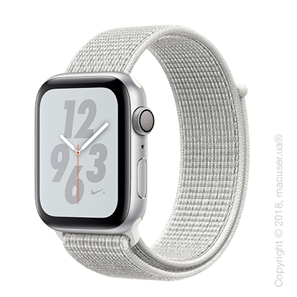 Apple Watch Series 4 GPS 44mm Silver Aluminum Case with Summit White Nike Sport Loop