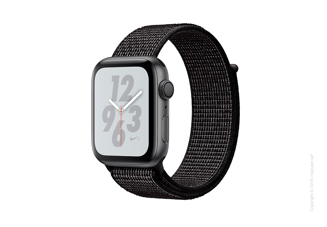 Apple Watch Series 4 GPS 40mm Space Gray Aluminum Case with Black Nike Sport Loop
