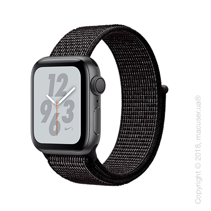 Apple Watch Series 4 GPS 40mm Space Gray Aluminum Case with Black Nike Sport Loop
