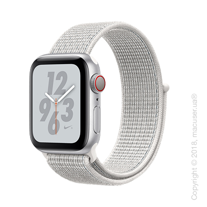 Apple Watch Series 4 GPS + Cellular 40mm Silver Aluminum Case with Summit White Nike Sport Loop