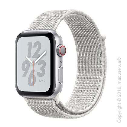 Apple Watch Series 4 GPS + Cellular 44mm Silver Aluminum Case with Summit White Nike Sport Loop