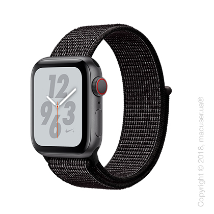 Apple Watch Series 4 GPS + Cellular 40mm Space Gray Aluminum Case with Black Nike Sport Loop