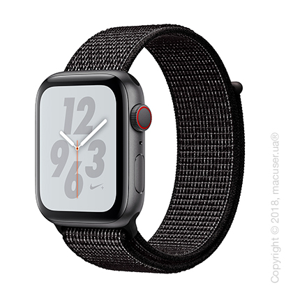 Apple Watch Series 4 GPS + Cellular 44mm Space Gray Aluminum Case with Black Nike Sport Loop