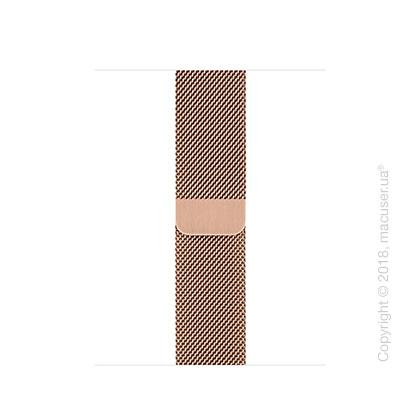 Миланский сетчатый браслет золотого цвета (для корпуса 40 мм)
