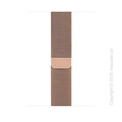 Миланский сетчатый браслет золотого цвета (для корпуса 44 мм)