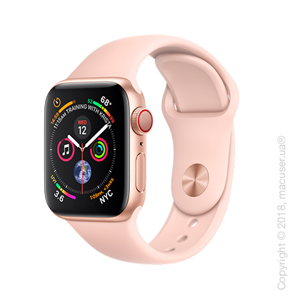 Apple Watch Series 4 GPS + Cellular 40mm Gold Aluminum Case with Pink Sand Sport Band