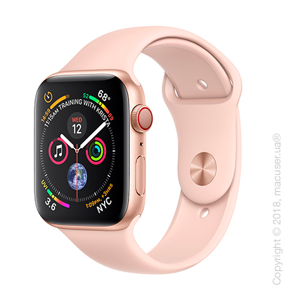 Apple Watch Series 4 GPS + Cellular 44mm Gold Aluminum Case with Pink Sand Sport Band