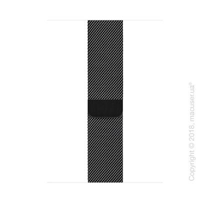 Миланский сетчатый браслет цвета «чёрный космос» (для корпуса 44 мм)