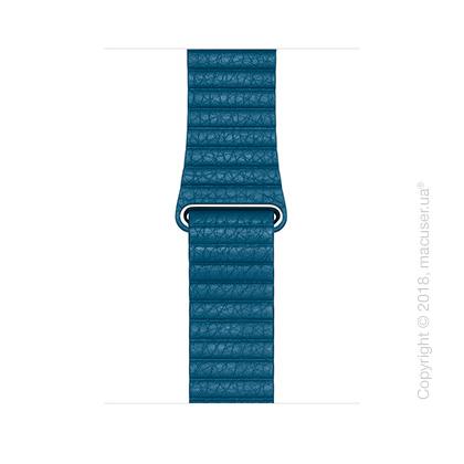 Кожаный ремешок цвета «лазурная волна» (для корпуса 44 мм), размер M