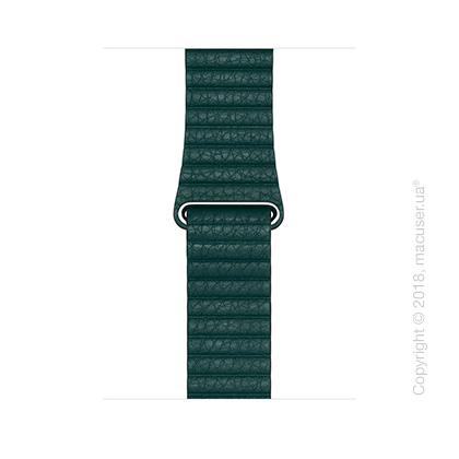Кожаный ремешок цвета «зелёный лес» (для корпуса 44 мм), размер M