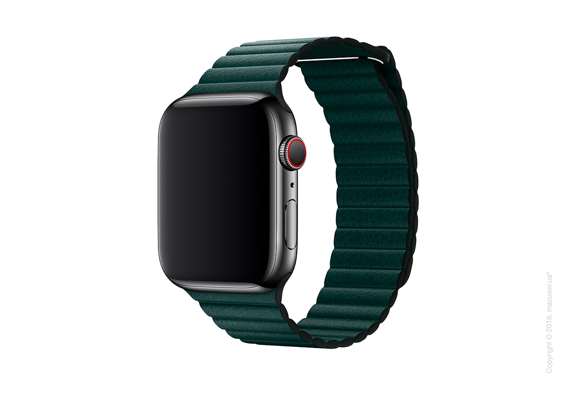 Кожаный ремешок цвета «зелёный лес» (для корпуса 44 мм), размер L