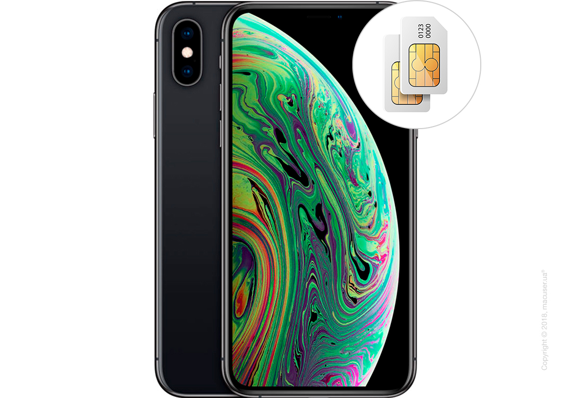 Apple iPhone Xs Max 2-SIM 64GB, Space Gray