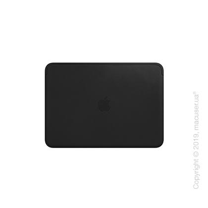 Кожаный чехол для MacBook 12 дюймов, Black