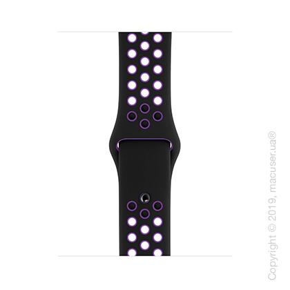 Спортивный ремешок Apple 40mm Black/Hyper Grape Nike Sport Band – S/M & M/L