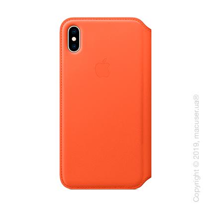 iPhone Xs Leather Folio - Sunset