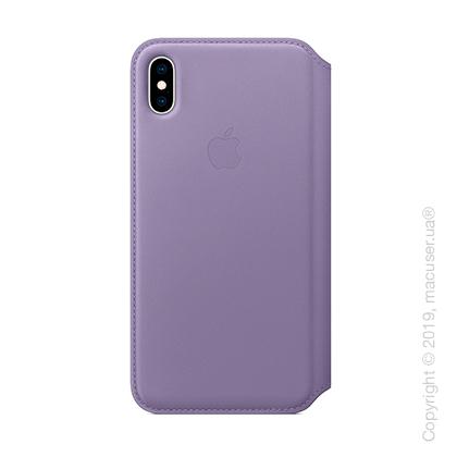 iPhone Xs Leather Folio - Lilac