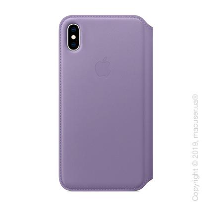 iPhone Xs Max Leather Folio - Lilac