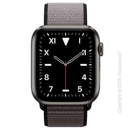Apple Watch Edition GPS + Cellular, 44mm Space Black Titanium Case with Anchor Gray Sport Loop
