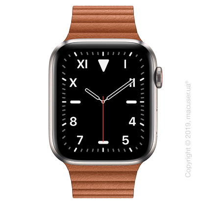 Apple Watch Edition GPS + Cellular, 44mm Titanium Case with Saddle Brown Leather Loop