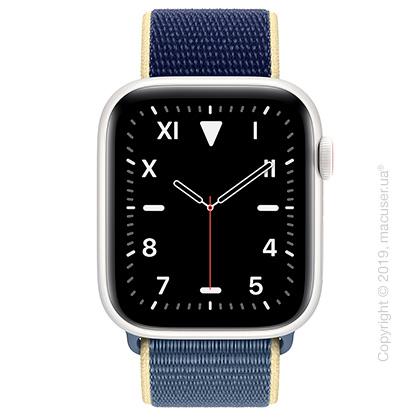 Apple Watch Edition GPS + Cellular, 44mm White Ceramic Case with Alaskan Blue Sport Loop