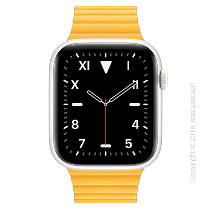 Apple Watch Edition GPS + Cellular, 44mm White Ceramic Case with Meyer Lemon Leather Loop