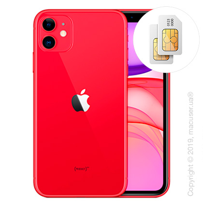 Apple iPhone 11 2-SIM 64GB, (PRODUCT)RED New